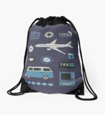 Lost blue Drawstring Bag