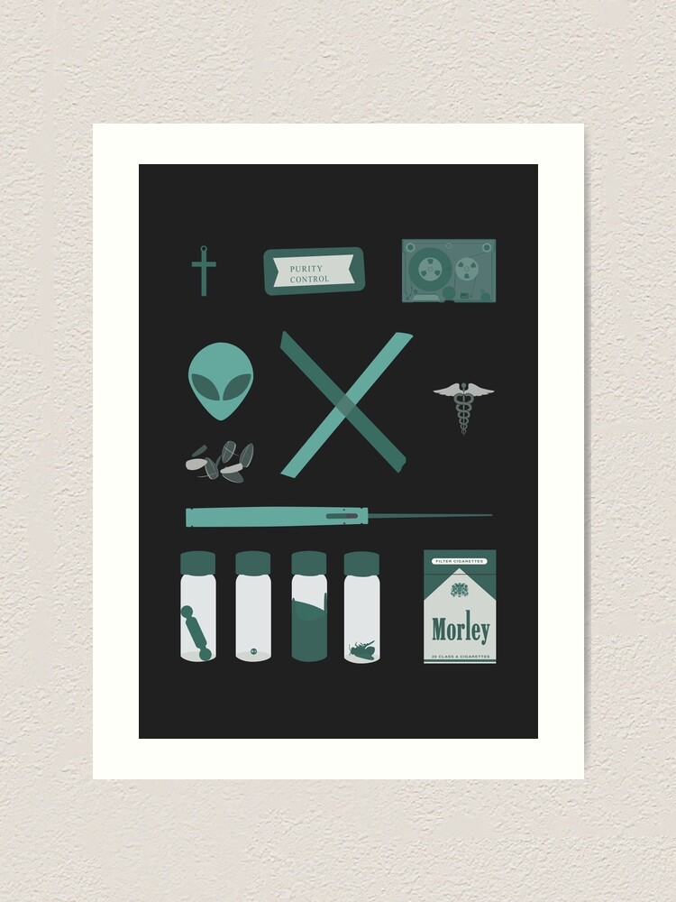 Alternate view of X-Files  Art Print