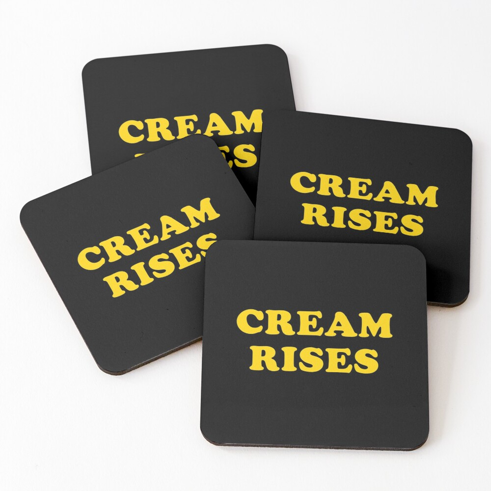 CREAM RISES Coasters (Set of 4)