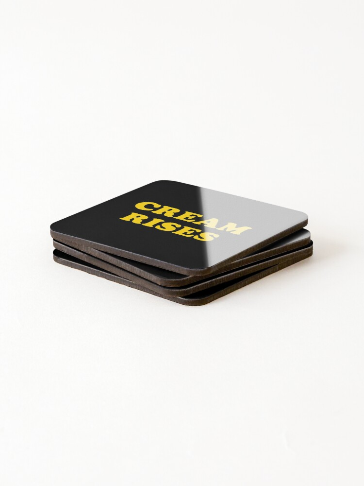 Alternate view of CREAM RISES Coasters (Set of 4)