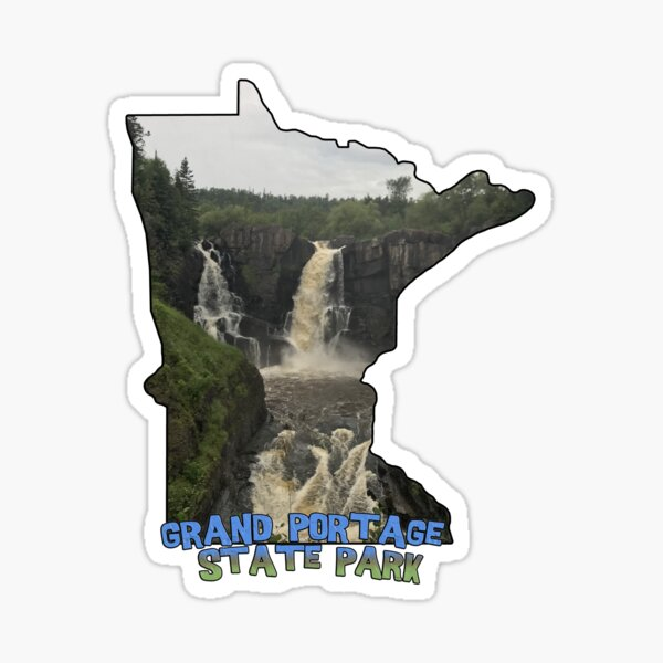Minnesota Outline (Grand Portage State Park) Sticker