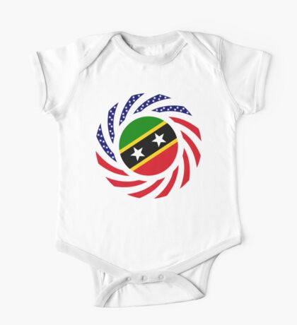 Kittian and Nevisian American Multinational Patriot Flag Series Kids Clothes