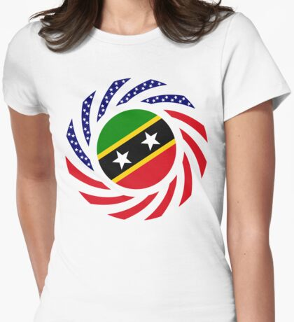 Kittian and Nevisian American Multinational Patriot Flag Series T-Shirt