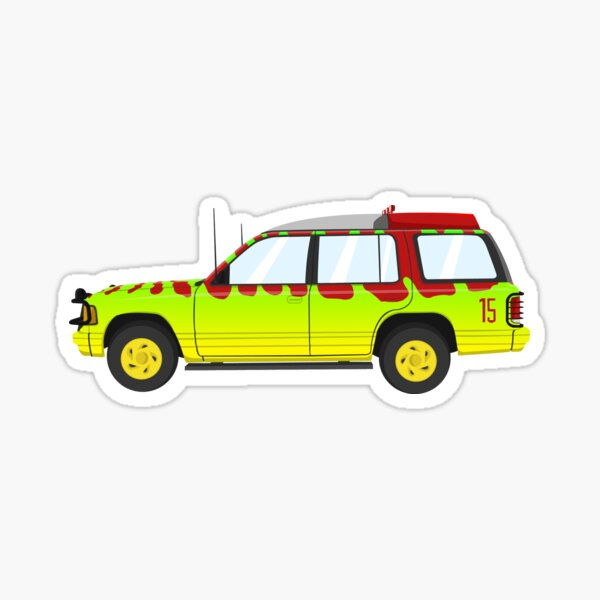 Jurassic Park Car Pegatina
