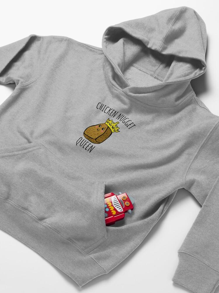 Alternate view of Chicken Nugget Queen - Nuggets gift Kids Pullover Hoodie