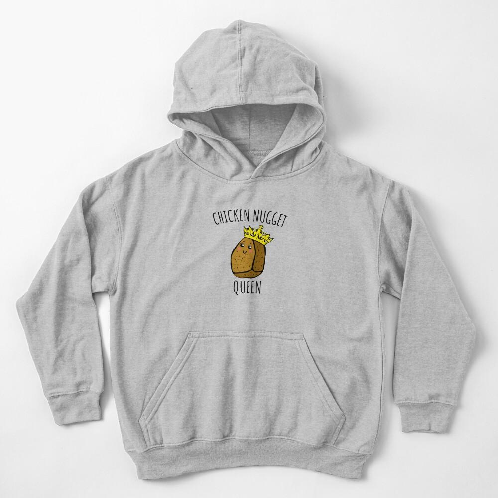 Chicken Nugget Queen - Nuggets gift Kids Pullover Hoodie