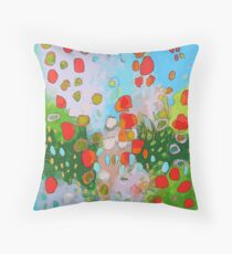 Abstract Poppy Field:  Throw Pillow