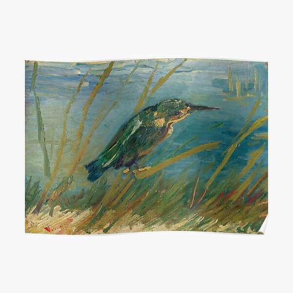 The Kingfisher - Vincent Van Gogh  Poster