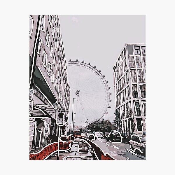 Ville de londres logo noir et blanc T-shirt Big Ben London Eye le cornichon