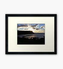 Giant's Causeway - fading light Framed Print
