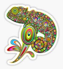 Chameleon Psychedelic Glossy Sticker