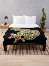 Chameleon Psychedelic Throw Blanket