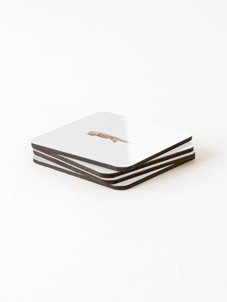 Alternate view of Bearded Dragon Chilling Coasters (Set of 4)