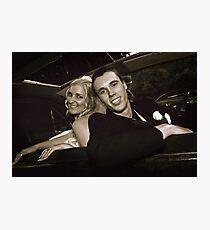 Inside the Wedding Limo Photographic Print