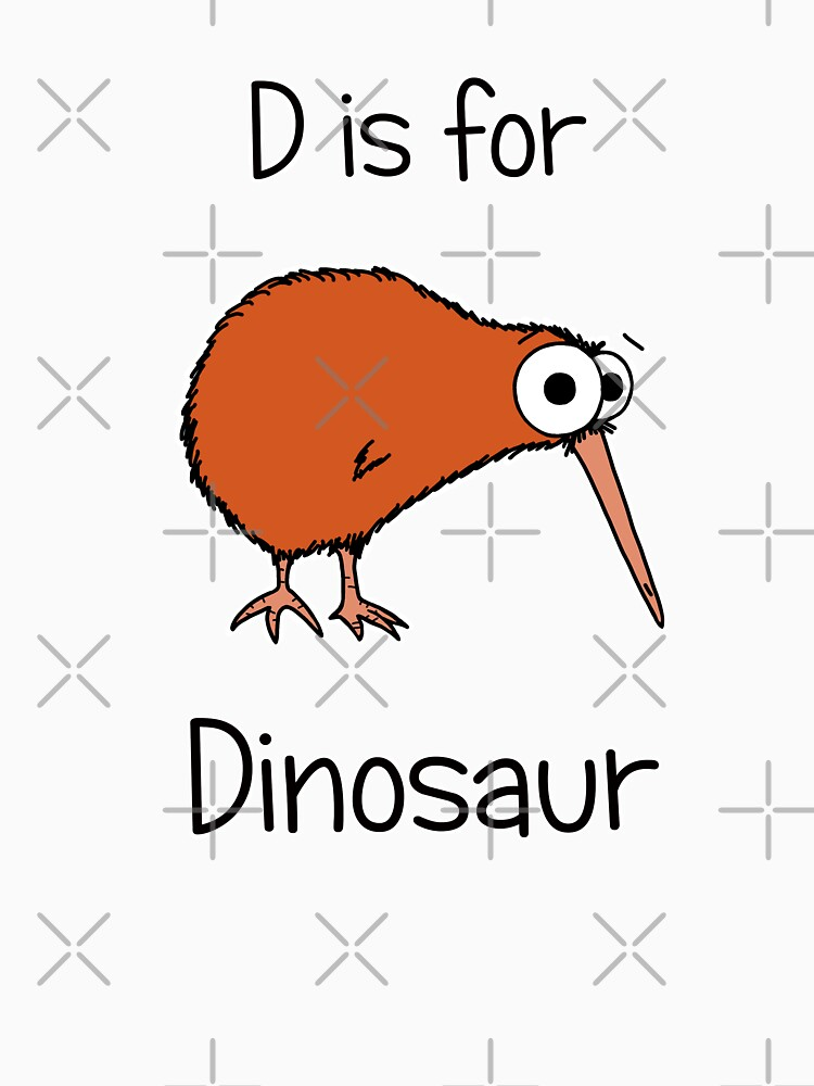 D is for Dinosaur (kiwi) by AdrienneBody