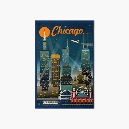 """CHICAGO"" Vintage Travel Advertising Print Art Board Print"