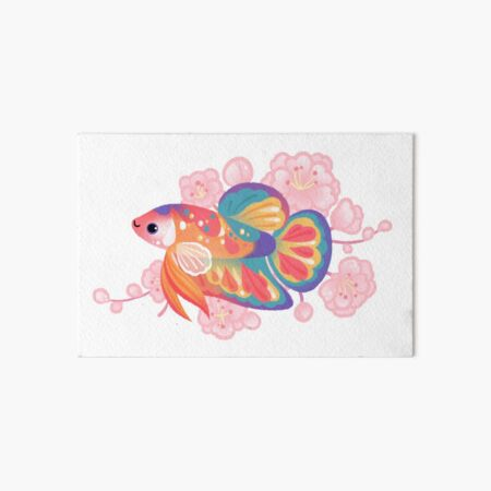 Koi betta Art Board Print