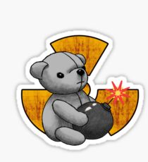 Teddy Bear Terror Sticker