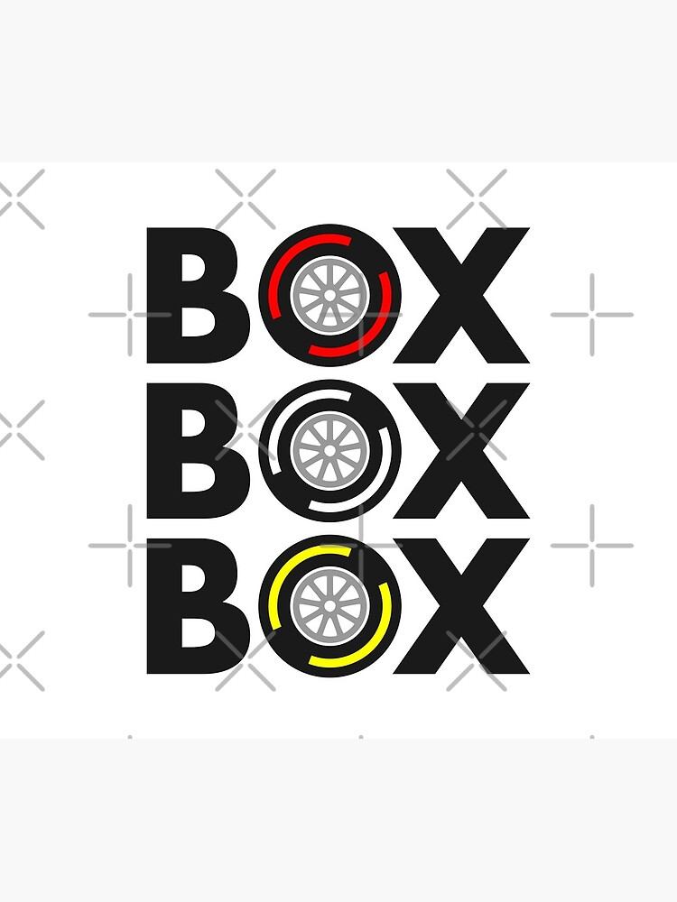 """Box Box Box"" F1 Tyre Compound Design by davidspeed"