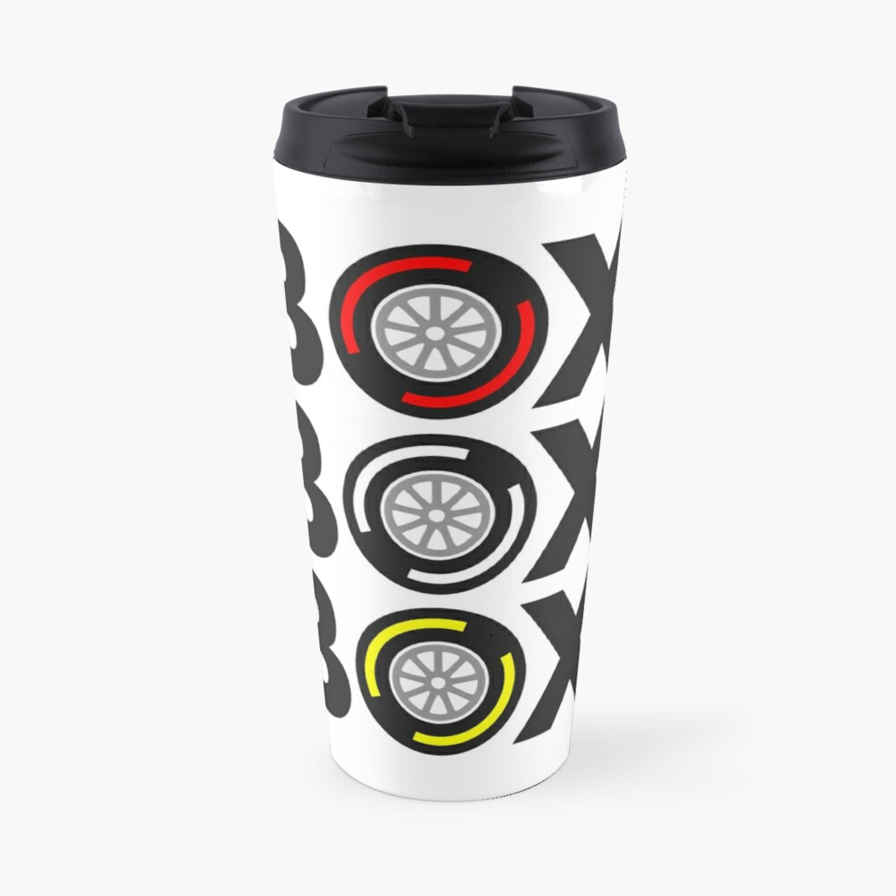 """Box Box Box"" F1 Tyre Compound Design Travel Mug"