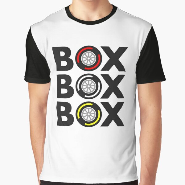 """Box Box Box"" F1 Tyre Compound Design Graphic T-Shirt"