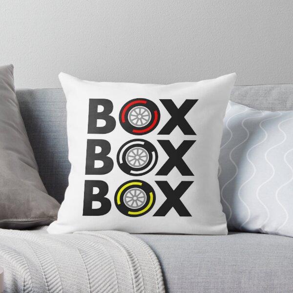"""Box Box Box"" F1 Tyre Compound Design Throw Pillow"
