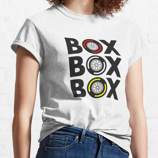 """Box Box Box"" F1 Tyre Compound Design Classic T-Shirt"