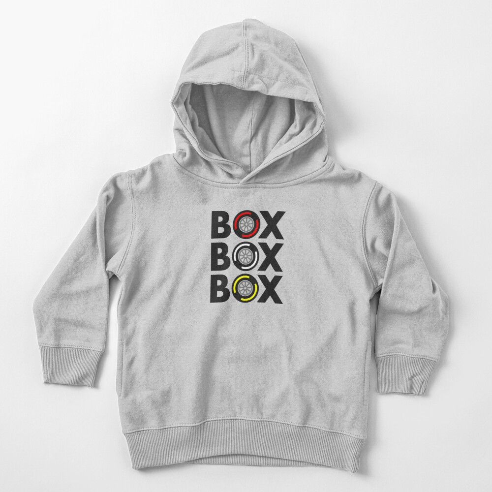 """""""Box Box Box"""" F1 Tyre Compound Design Toddler Pullover Hoodie"""