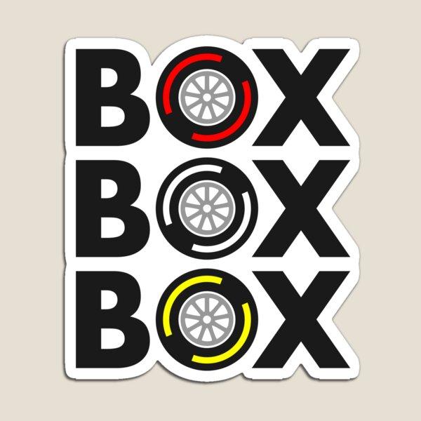 """""""Box Box Box"""" F1 Tyre Compound Design Magnet"""