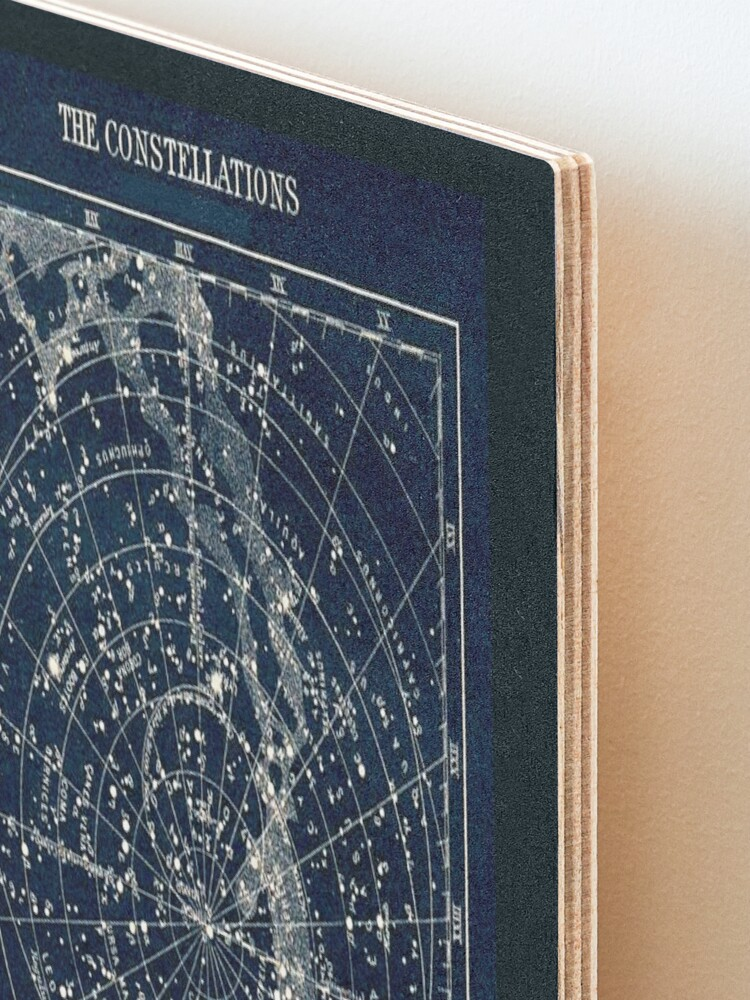 Alternate view of THE STAR CONSTELLATIONS : Vintage 1900 Galaxy Print Mounted Print