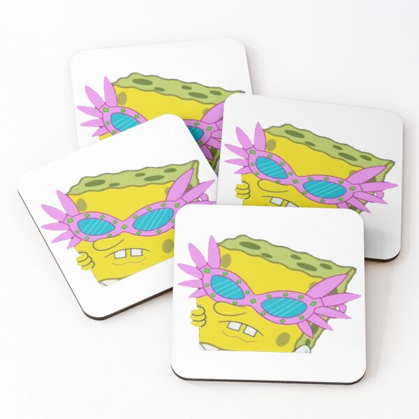 Spongebob Sunglasses Meme Coasters (Set of 4)