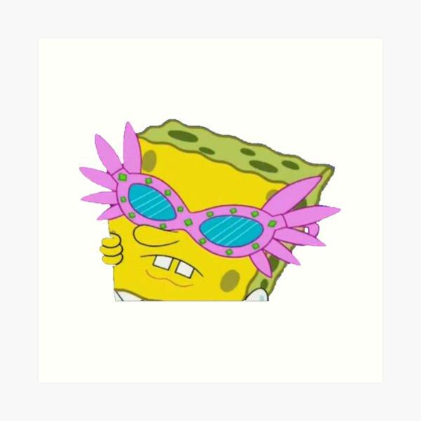 Spongebob Sunglasses Meme Art Print