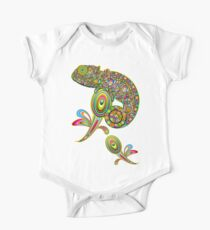 Chameleon Psychedelic Short Sleeve Baby One-Piece