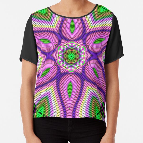 Psychedelic art, Art movement Chiffon Top