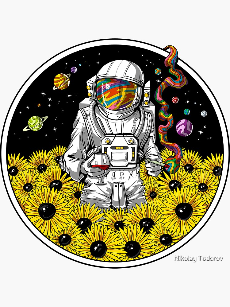 Psychedelic Astronaut Sunflowers by underheaven