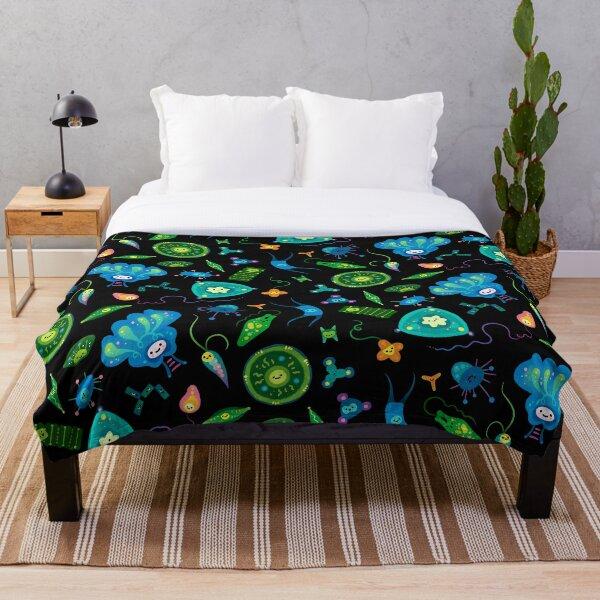 Phytoplankton Throw Blanket
