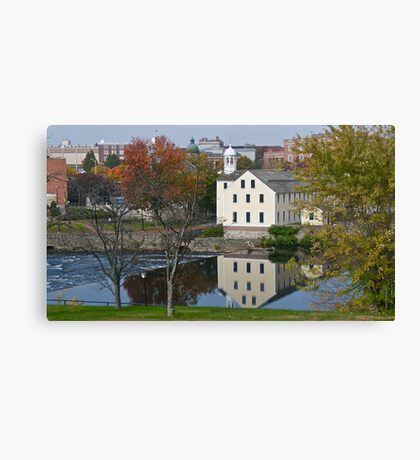 Slater Mill Historic Site - Fall in Rhode Island *featured Canvas Print