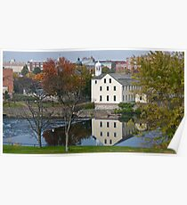 Slater Mill Historic Site - Fall in Rhode Island *featured Poster