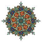 Colorful Leaf Mandala by Samm Poirier