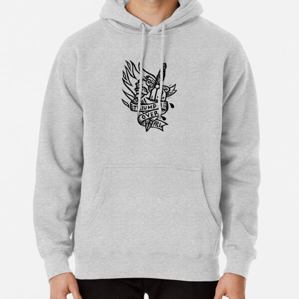 Dagger and Heart - Black Pullover Hoodie