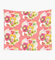 Flowers are beautiful by Tiinaminds Wall Tapestry
