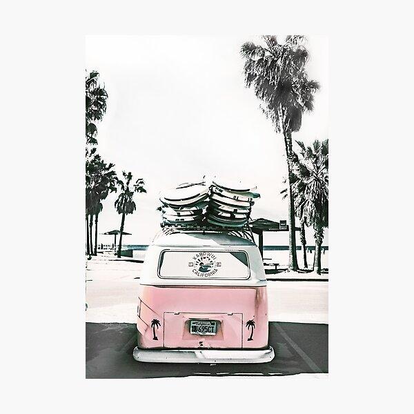 Surf combi van. Ocean life Photographic Print