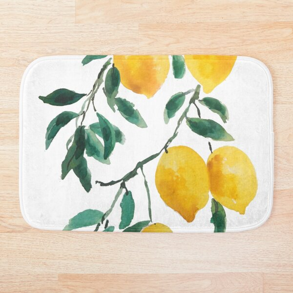 yellow lemon 2018 Bath Mat