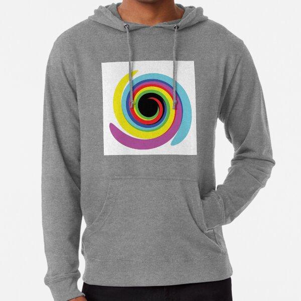 #OpArt #OpticalArt #Rainbow, #design, vortex, creativity, bright, target, horizontal, color, circle, multi colored Lightweight Hoodie