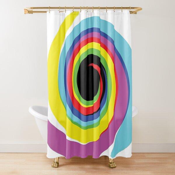 #OpArt #OpticalArt #Rainbow, #design, vortex, creativity, bright, target, horizontal, color, circle, multi colored Shower Curtain