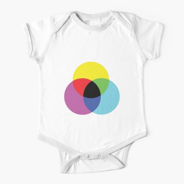 #OpArt #OpticalArt #Circle, #colorfulness, design, illustration, art, shape, color, image, separation Short Sleeve Baby One-Piece