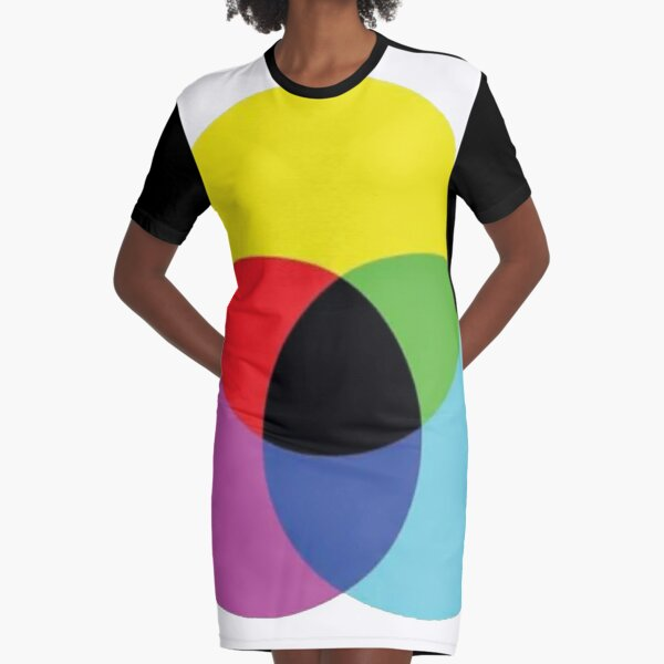 #OpArt #OpticalArt #Circle, #colorfulness, design, illustration, art, shape, color, image, separation Graphic T-Shirt Dress