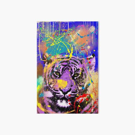 Triangular Tiger Abstract Framed Wall Art Print 9X7 In