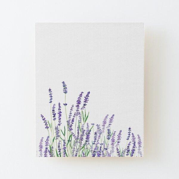 purple lavender horizontal watercolor Wood Mounted Print