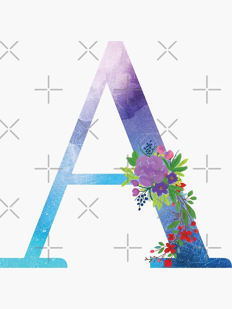 Floral Monogram Letter A by tribbledesign